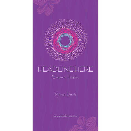 Custom Vertical Display Banner, Pink Nest Pattern