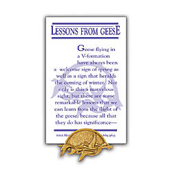 Lessons From Geese Lapel Pin 1