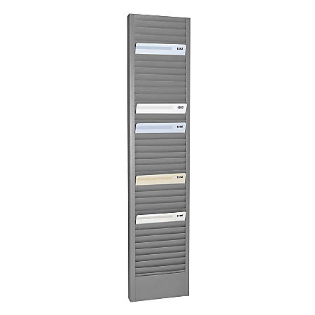"Steelmaster Horizontal Heavy-Duty Swipe Card Rack, 18.7"" x 4.1"" x 1"", Gray"