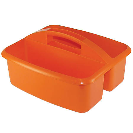 "Romanoff Products Large Utility Caddy, 6 3/4""H x 11 1/4""W x 12 3/4""D, Orange, Pack Of 3"