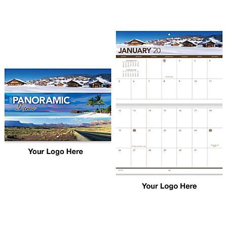 "Panoramic Memo 13-Month Stapled Wall Calendar, 10 3/8"" x 10"""