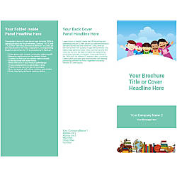 Customizable Trifold Brochure Children Books