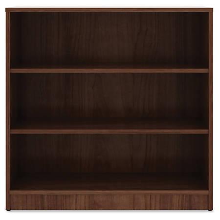 "Lorell® Laminate Bookcase, 3-Shelf, 36""H, Walnut"