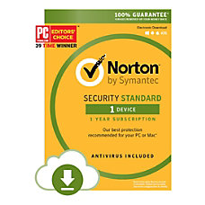 Norton Security Standard For 1 User