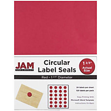 JAM Paper Circle Label Sticker Seals