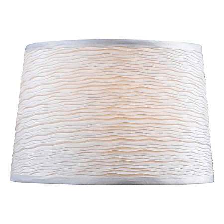"""Kenroy Home Fashion Match Fabric Tapered Drum Lamp Shade, 10""""H x 15""""W, White"""