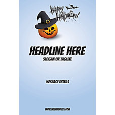 Custom Poster Blue Halloween Vertical