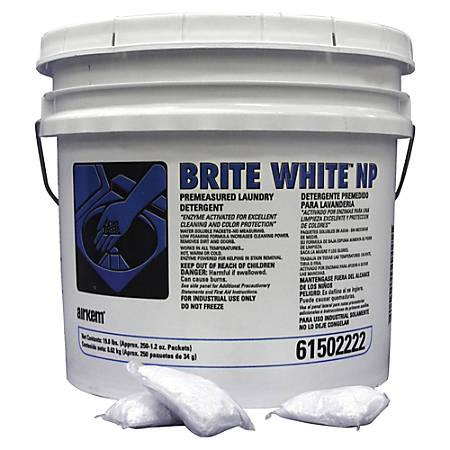 SKILCRAFT Brite White NP Laundry Packets - Powder - 250 / Carton - White