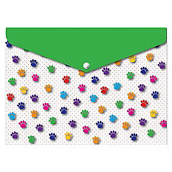Ashley Pawprints Design Snap Poly Folders