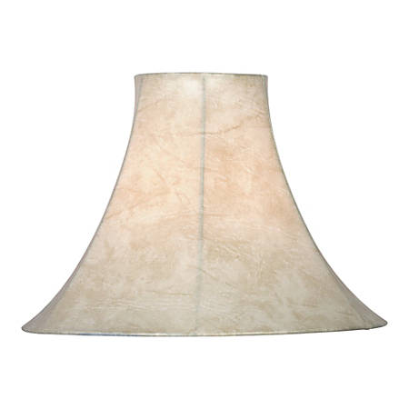 "Kenroy Home Fashion Match Faux Leather Bell Lamp Shade, 12""H x 15""W, Tan"