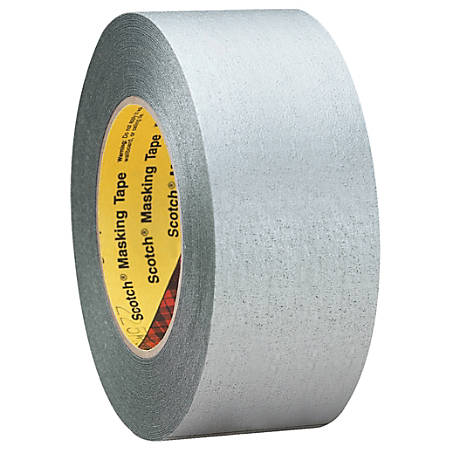"3M™ 225 Masking Tape, 3"" Core, 2"" x 180', Silver, Pack Of 24"