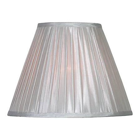 "Kenroy Home Fashion Match Fabric Drum Lamp Shade, 12""H x 15""W, Silver"