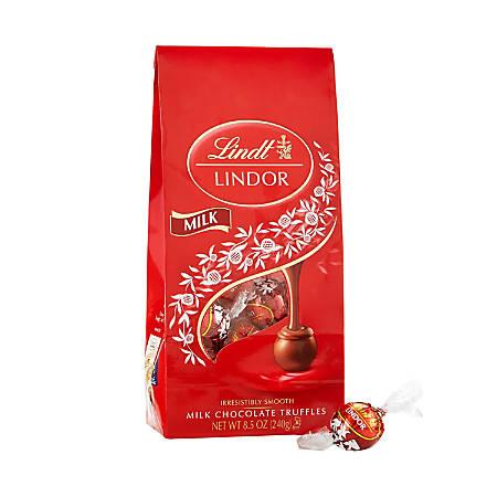 Lindor Chocolate Truffles, Milk Chocolate, 8.5 Oz, Pack Of 2 Bags