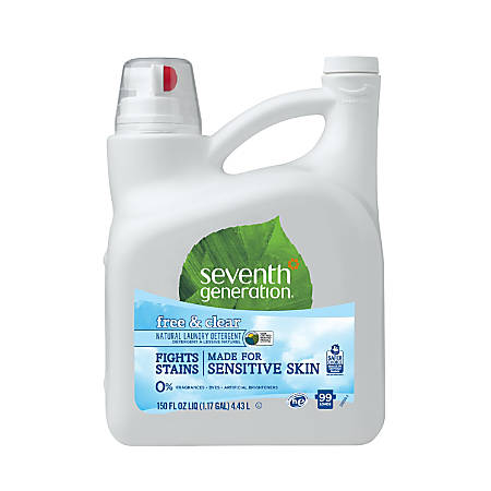 Seventh Generation™ Natural Laundry Detergent, Free And Clear, Unscented, 150 Oz