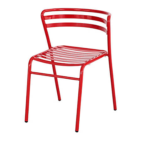 Safco® CoGo™ Indoor/Outdoor Chair, Red, Set Of 2