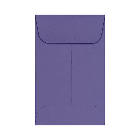 "LUX Coin Envelopes, #1, 2 1/4"" x 3 1/2"", Wisteria, Pack Of 500"