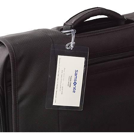 Samsonite® ID Tags, Self-Laminating, Clear, Pack Of 3