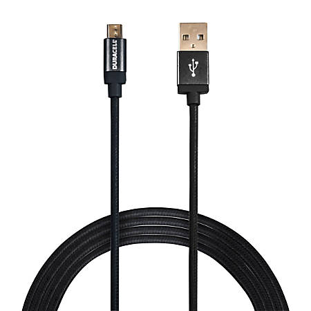 Duracell® Sync & Charge Cable, Micro USB, 10', Gun Metal Gray, LE2294