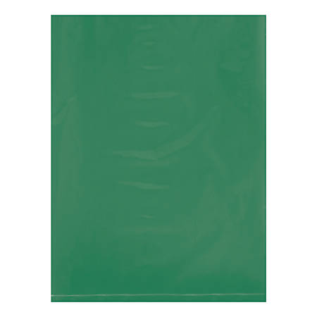 """Office Depot® Brand Flat Poly Bags, 9"""" x 12"""", Green, Pack Of 1,000"""