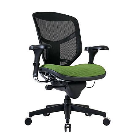 WorkPro® Quantum 9000 Series Ergonomic Mid-Back Mesh/Fabric Chair, Black/Lime