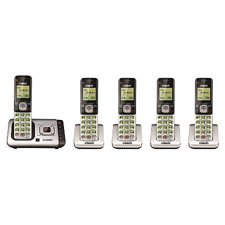 VTech® CS6729-5 DECT 6.0 Cordless Phone System With Digital Answering Machine