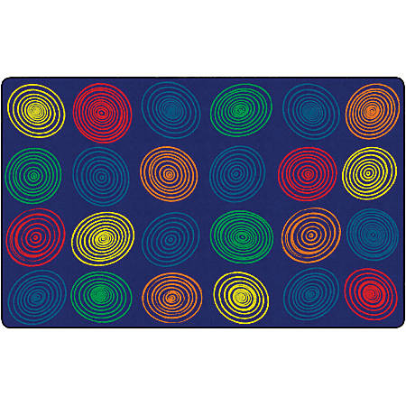 "Flagship Carpets Circles Rug, Rectangle, 7' 6"" x 12', Primary"