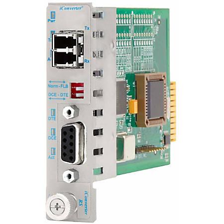 iConverter RS-422/485 Serial to Fiber Media Converter DB-9 LC Single-Mode 60km Module - 1 x RS-422/485; 1 x LC Single-Mode; Internal Module; Lifetime Warranty