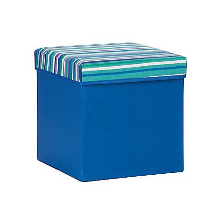 "Honey-Can-Do Kids' Storage Cube, 12 1/2""H x 12""W x 12""D, Blue"