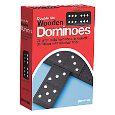 Pressman Toys Double Six Wooden Dominoes