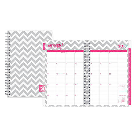 "Blue Sky™ Dabney Lee Weekly/Monthly Planner, 5"" x 8"", 50% Recycled, Ollie, January to December 2018 (102133)"