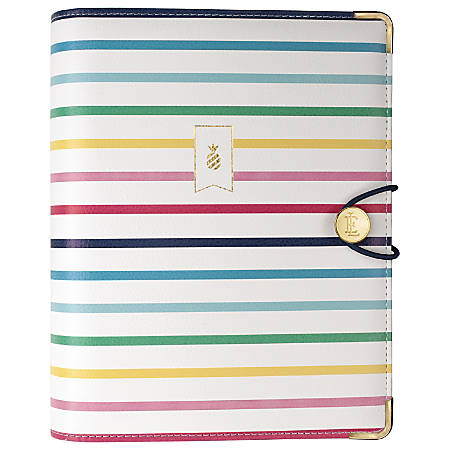 "AT-A-GLANCE® Emily Ley Simplified System Organizer Cover, 5 3/8"" x 8 1/2"", Happy Stripe"