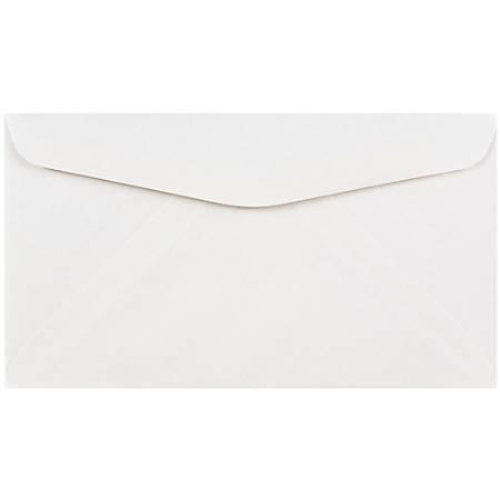 "JAM Paper® Booklet Envelopes With Gummed Closure, #6 3/4, 3 5/8"" x 6 1/2"", White, Pack Of 25"
