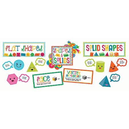 Carson-Dellosa School Pop Shapes And Solids Bulletin Board Set, Multicolor, Grades K-2