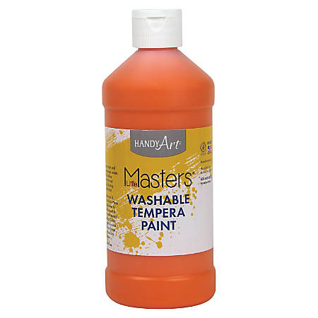 Handy Art 16 oz. Little Masters Washable Tempera Paint - 16 fl oz - 1 Each - Orange