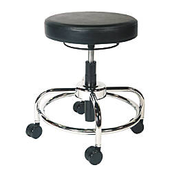 Alera Height Adjustable Utility Stool BlackChrome