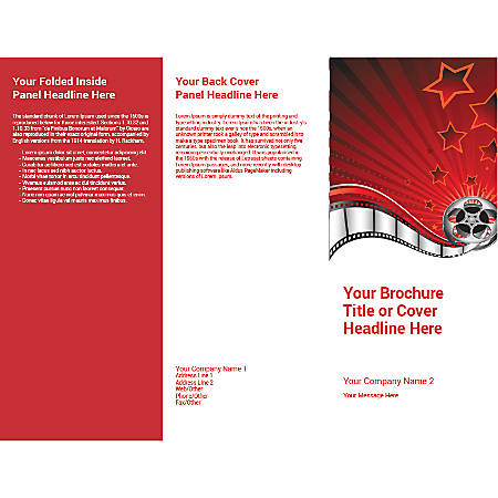 Customizable Trifold Brochure, Film Reel