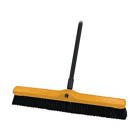 "Rubbermaid® Commercial Medium Floor Sweeper, 24"" x 3"", Black"