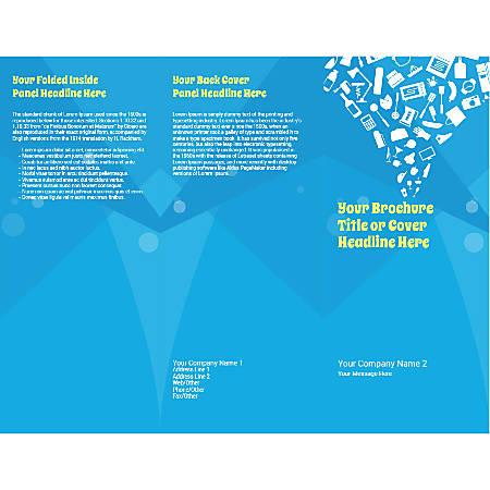 Customizable Trifold Brochure, Shopping Cart