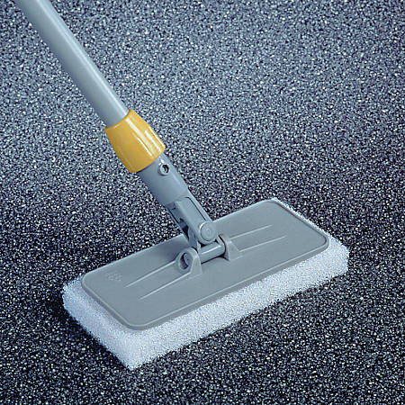 "Rubbermaid® Upright Scrubber Pad Holder With Universal Locking Collar, 4"" Diameter, Gray"