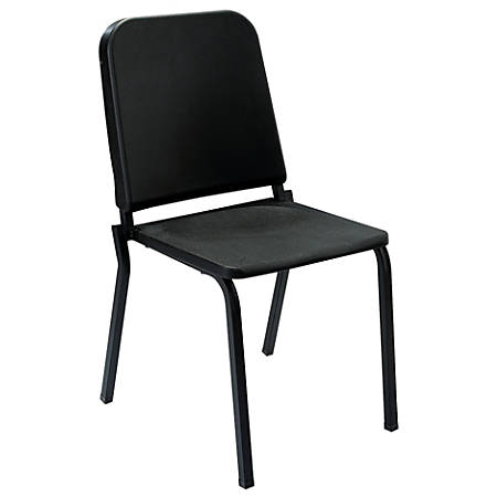 National Public Seating Melody Stackable Chairs, Black/Black, Set Of 2