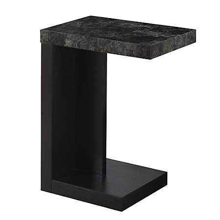 Monarch Specialties Modern End Table, Gray/Black