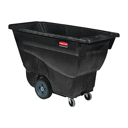 "Rubbermaid Commercial Utility Duty Tilt Truck - 450 lb Capacity - Structofoam - 26"" Width x 53"" Depth x 33"" Height - Black"