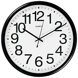 TEMPUS Commercial Wall Clock Black