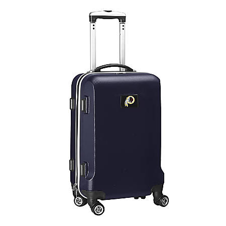 "Denco 2-In-1 Hard Case Rolling Carry-On Luggage, 21""H x 13""W x 9""D, Washington Redskins, Navy"