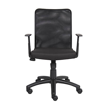 Boss Budget Mesh Task Chair, With T-Shaped Arms, Black