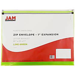 JAM Paper Plastic Envelopes With Zipper
