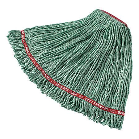 """Rubbermaid® Swinger Loop® Cotton/Synthetic Yarn Wet Mop, 58"""", Green"""