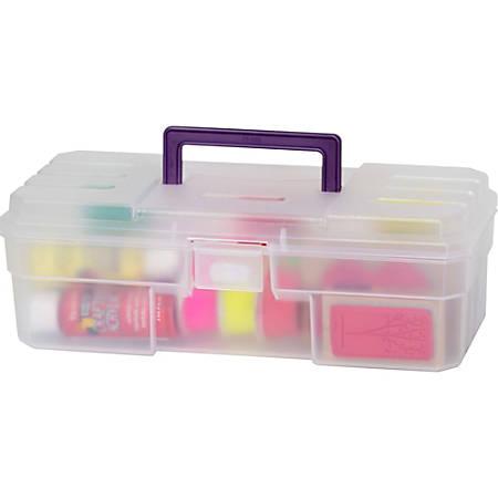 "Akro-Mils All-Purpose Storage Box, Translucent Purple, 12"" x 6"" x 4"""