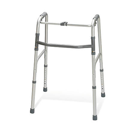 Guardian Adult 1-Button Folding Walkers, Case Of 4