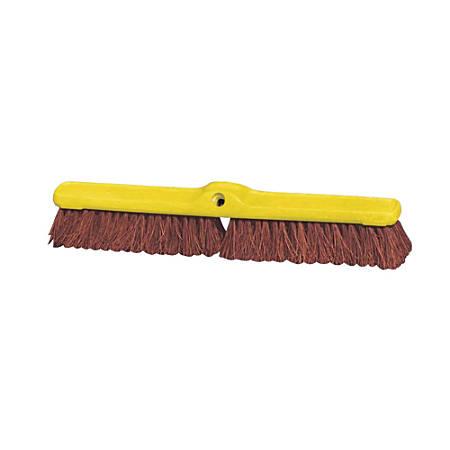 "Rubbermaid® Commercial Heavy-Duty Floor Sweeper, 24"", Brown/Yellow"